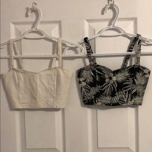 TWO Cropped Tank Tops